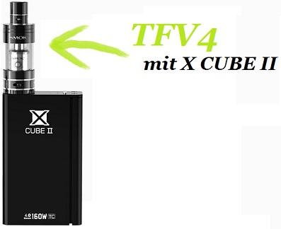 Smok TFV4 auf dem X CUB 2