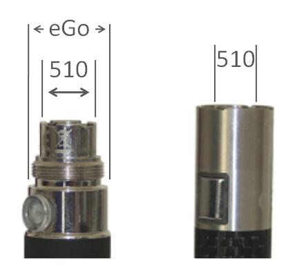 Gewinndetypen von e-Zigaretten Akku eGo und 510