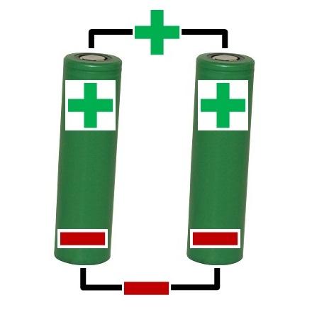 elektrische Zigarette Akkuträger: Parallelschaltung