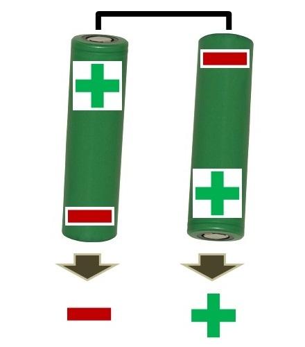 e-Zigarette Akkuträger: Reihenschaltung